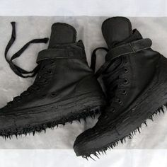 """Indie Designs Carol Christian Poell Inspired """"Object Dyed, No Seam Drip-Rubber"""" Canvas Sneakers"""