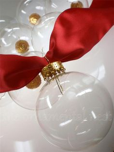 12 Crystal Clear Glass Ball Christmas Feather by tennesseewaltz, $11.95