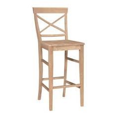 Enhance any space with the International Concepts Dining Essentials Bar Stool. This stool features an armless design, so you can tuck it under the counter or bar. It features a classic style for a design that can easily match with your counter space. Wood Counter Stools, Wood Stool, Used Chairs, Metal Chairs, Rattan Chairs, Bag Chairs, Lounge Chairs, Designer Bar Stools, Upholstered Stool
