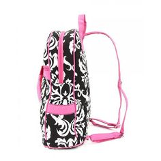 Wholesale Garment Bags Monogrammable | Welcome! Belvah Bags - Large Backpack (Black/White/Pink/Damask ...
