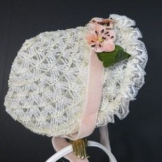 vintage Easter bonnets | Vintage little girl's Easter bonnet, 1950's.