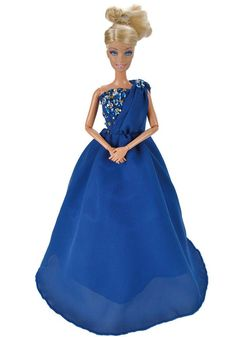 E-TING Beautiful Handmade Doll Clothes Evening Dress Princess Outfit for Barbie Dolls 2016 Party Gown Collection New Arrivals