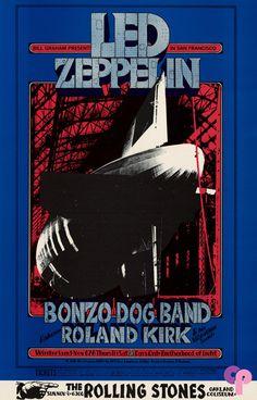 Led Zeppelin at Winterland 11/6-8/69 Oakland Coliseum 11/9/69 by Randy Tuten ~ Performers: Led Zeppelin (11/6-8) Bonzo Dog Band Rahsaan Roland Kirk & His Vibration Society Rolling Stones (11/9)