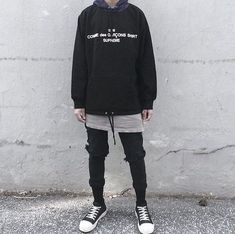 Cdg x supreme fit i fucks with this in 2019 moda coreana masculina, moda ro Gothic Outfits, Grunge Outfits, Grunge Fashion, Urban Fashion, Boy Outfits, Mens Fashion, Fashion Outfits, Mode Streetwear, Streetwear Fashion