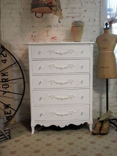 Painted Cottage Romantic Shabby White French by paintedcottages, $525.00