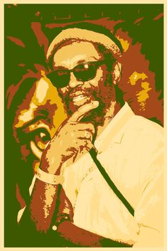 Judah Eskender Tafari-reggae-music-pop art-poster-wall art-interior decoration-khaki and orange Reggae Art, Reggae Music, Rastafari Art, All Star, Jungle Sounds, Pop Art Poster, Anthony B, Black Star, Graphic