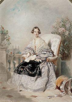 1838 Queen Victoria by Alfred Edward Chalon (National Galleries of Scotland, Edinburgh)