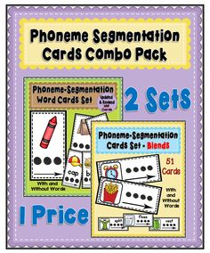 This pack is a combination of the two Phoneme Activity Card Sets which can be found in my store. Please click on the links below for detailed information on both sets.