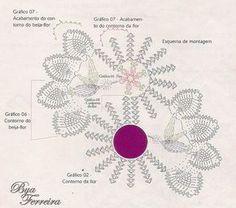 Crochê Bya Ferreira: Caminho de mesa Beija-flor - Receita