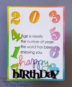 Nupur Creatives, Happy, Birthday, Rainbow, So Suzy, Distress Inks, Papertrey Ink, Simon Says Stamp,