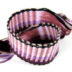 Handmade Gift Bracelet, Pink and Purple Bracelet, Friendship Bracelet, BUTTERFLIES. $18.00, via Etsy.