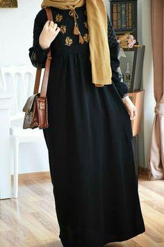 Modern Hijab Fashion, Islamic Fashion, Abaya Fashion, Muslim Fashion, Fashion Outfits, Dress Fashion, Fashion Fashion, Mode Abaya, Hijab Fashionista