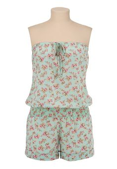 Floral Print Romper available at #Maurices