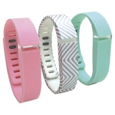 Smart Buddie™ 3 Pack Fashion Activity Small Tracker Bands - Pink/Gray/Teal (1800-1002S)