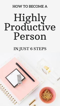 6 steps to becoming a more organised and productive person. These tips will help boost productivity and create a smoother, more efficient office. #careers #productivity #organisation