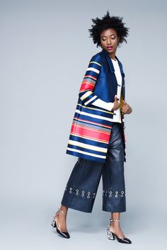 Outfit of the Week: Culottes and Stripes -- The Cut Boohoo Outfits, Fashion Week 2016, Sophisticated Dress, Weekly Outfits, All About Fashion, Winter Outfits, Kimono Top, Cute Outfits, Stripes