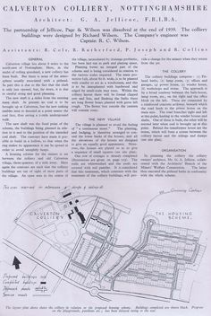 Calverton Colliery - The Architecture - page 1