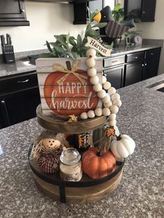 Excited to share this item from my shop: Harvest Brand New! Harvest Two Tiered Tray Harvest Tier Tray Decor Fall Harvest Regular Package Deluxe Package Harvest Decor Fall Harvest Decorations, Thanksgiving Decorations, Seasonal Decor, Table Decorations, Holiday Decor, Diy Thanksgiving, Christmas Decor, Fall Table Centerpieces, Kitchen Decorations