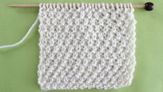 Irish Seed Knit Stitch Pattern Easy for Beginning Knitters by Studio Knit with Video Tutorial #studioknit #knitstitchpattern