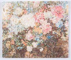 After Scenic Wallpaper / 2017 / Gouache on Duralar / 10 x 12 on 19 x 24 in Kirstin Lamb