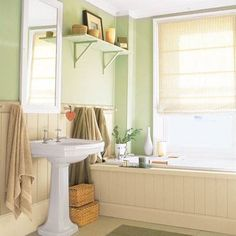 Idea of the Day: Give a drop-in tub a vintage look by paneling its exterior. To guard against rot on wood surrounds like this one, make the deck out of plywood topped by a sheet of waterproof laminate, and cap just the edges with solid stock. Use exterior-grade beadboard plywood for the sides, and skirt the bottom with baseboard. Last, paint the various wood components to match the laminate. Find all materials for less than $100 at home centers. SEE MORE THRIFTY BATH UPGRADES