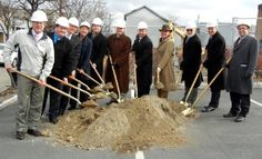 Lackawanna County Commissioners Jim Wansacz and Patrick M. O'Malley joined community officials and the United Neighborhood Centers at the Groundbreaking Ceremonies for the Cedar Avenue Revitalization Project Phase II .