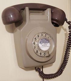 Original Vintage Retro 1970's GPO 741 Rotary Dial Grey Wall Mounted Telephone