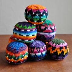 Fair Trade Hacky Sacks made in Guatemala for Bella Luna Toys.