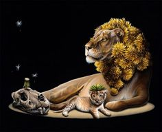 Canadian artist Jacub Gagnon creates amazing surreal animal paintings in which he presents diverse creatures and objects in bizarre ways. Ap Studio Art, Animal Art, Surreal Art, Surrealism, Surrealism Painting, Animal Illustration, Animal Paintings, Artist Interview, Nature Artists