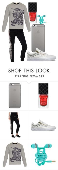 """""""ville_n°326"""" by angelabalboa ❤ liked on Polyvore featuring Native Union, Gucci, adidas Originals, Vans and Burberry"""