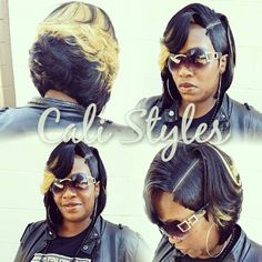 102814 @ cali's style Boblife quick weave