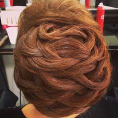 Hair art by Farouk Systems Lebanon's Tarek Gerges #updo #hairideas
