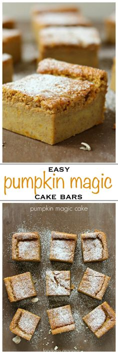 Pumpkin magic cake, light and creamy with layers of texture - Foodness Gracious