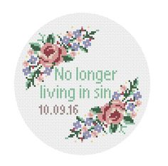 "This pattern is customizable, allowing you to enter a specific wedding date honouring your favourite sinners special day!  Dont be intimidated if you havent cross stitched before, its easy! You just count boxes on the pattern and make xs on the aida cloth. The kit comes with a quick how to cross stitch guide, but If you have any question, please feel free to contact me!   Included in the kit: • 6"" wooden embroidery hoop • DMC floss • Embroidery needle • 8 square White 16 count Aida cloth •…"