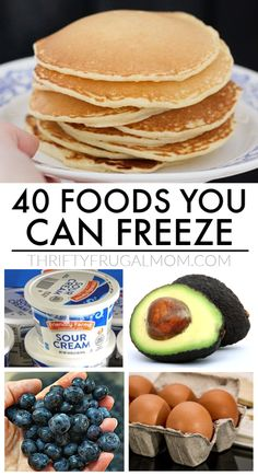 Curious what foods you can freeze? Way more than you think! Avocado onions pancakes sour cream butter grapes and so much more! This list of the 40 best foods to freeze is sure to save you both money and time! Budget Freezer Meals, Freezer Cooking, Frugal Meals, Cooking Tips, Budget Recipes, College Recipes, Inexpensive Meals, Cheap Meals, Cream Butter