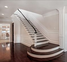 FOYER – great example of an impressive way to welcome guests. Entryway staircase ideas. This entryway is perfect.
