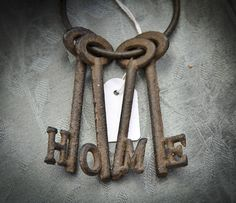 Pretty classic home design, but I think it needs a touch of color and something old to give it some soul. Under Lock And Key, Key Lock, Antique Keys, Vintage Keys, Knobs And Knockers, Door Knobs, Old Keys, Key To My Heart, Brown And Grey