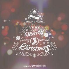 Letras con forma de árbol de Navidad