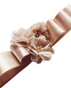 Wedding Sash Belt, Evening Dresses For Weddings, Sash Belts, Handmade Flowers, Belted Dress, Fashion Brands, Romantic, Amazon, Amazons