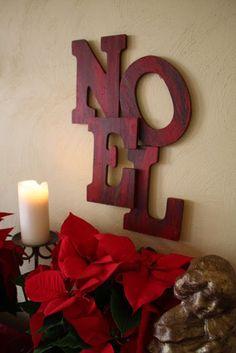 How to make easy noel sign.