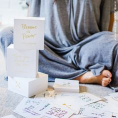 Starting TOMORROW, we've got two Volumes of my #Truthbomb Deck to make sure everybody in your life gets the love and light they need. (And, bonus! These gorgeous deck boxes are easy breezy to wrap.)   DANIELLELAPORTE.COM/SHOP