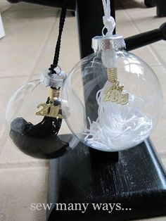 Graduation Tassel Ornaments ~ High School/College - Great way to make a keepsake ornament.