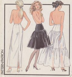 Full Length Petticoat, Below Knee Option, Long Slip, Plus Size 22-24, Waist 37-39, Hip 46-48, Lace Trimmed, Style Sewing Patterns 1504 by TheGrannySquared on Etsy