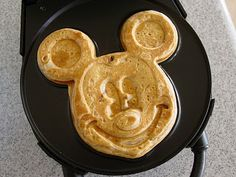 A mickey mouse waffle maker