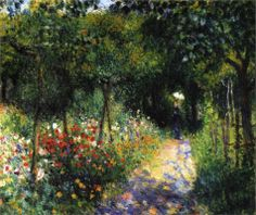 'Woman at the Garden', 1873 Pierre-Auguste Renoir - I enjoy paintings with a pathway for the eye to follow.
