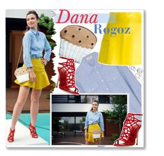 """""""Dana Rogoz and her muffin bag"""" by anne-mclayne ❤ liked on Polyvore"""
