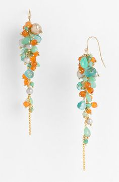 Alexis Bittar 'Elements' Cluster Drop Earrings available at Nordstrom … Wire Jewelry, Jewelry Crafts, Beaded Jewelry, Jewellery, Ideas Joyería, Urban Jewelry, Homemade Jewelry, Bijoux Diy, Schmuck Design