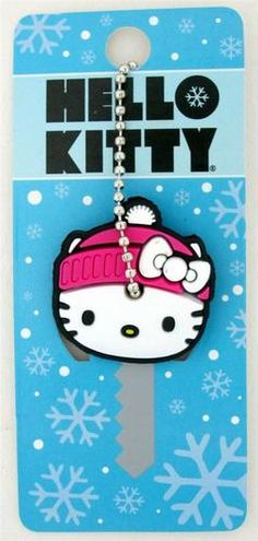 Loungefly Hello Kitty with Pink Beanie Winter Snow Hat Rubber Key Cap Cover ! Sanrio, Loungefly Hello Kitty, Hello Kitty Toys, Snow Hat, Baby Friends, Key Caps, Pink Beanies, Hello Kitty Collection, Key Covers