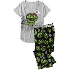 f2f58b21a6 Juniors Character Sleep Shirt And Capri - Walmart.com