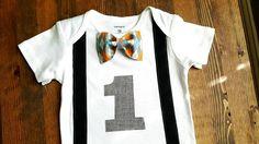 Jongens eerste verjaardag Outfit de kleren van de jongen van